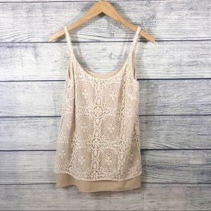 CAbi It Girl Lace cami size small